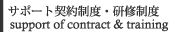 サポート契約制度・研修制度-support of contract & training-
